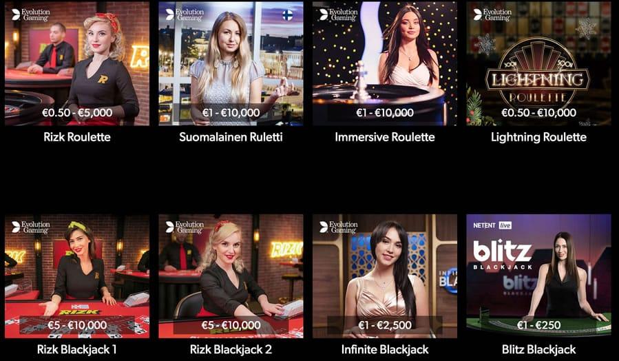 Rizk Casino Livepelit