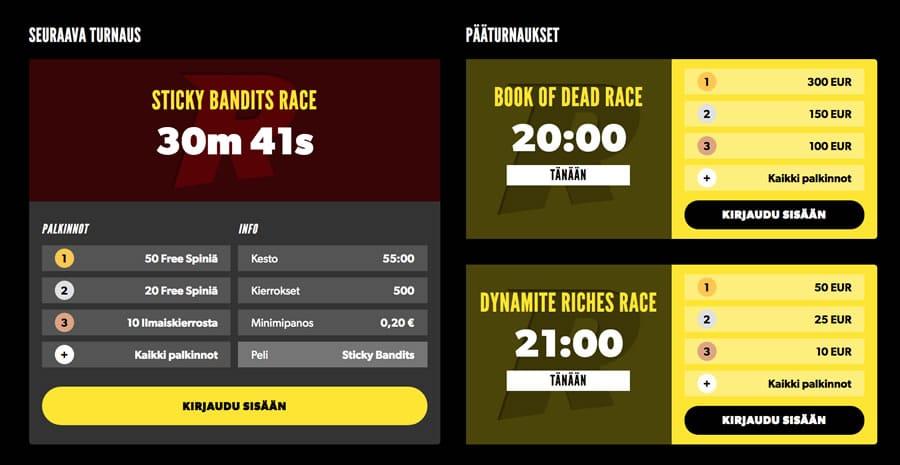 Rizk Race - turnaukset