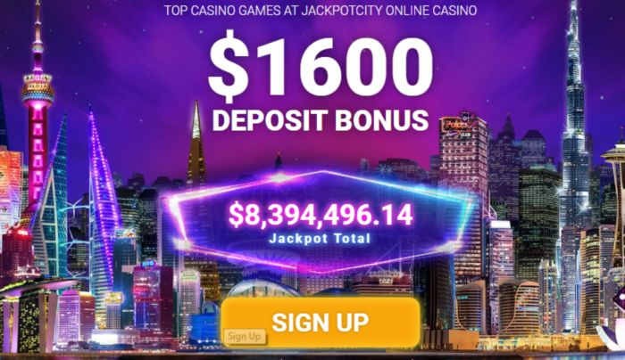 JackpotCity Bonuses